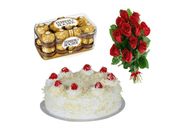 Ferrero rocher white forest roses
